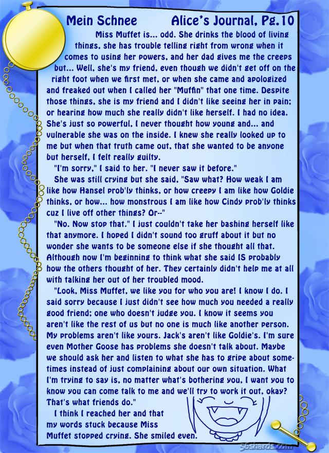 """""""Mein Schnee"""" 47: Alice's Journal, Pg.10"""