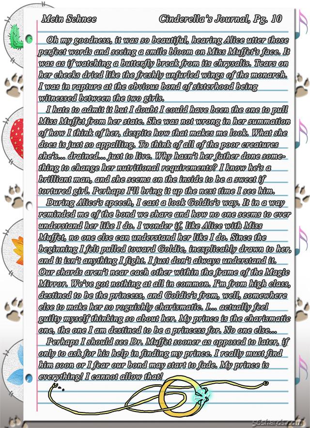 """""""Mein Schnee"""" 48: Cinderella's Journal, Pg.10"""