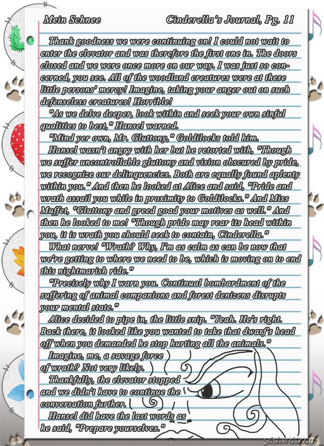 """""""Mein Schnee"""" 53: Cinderella's Journal, Pg.11"""