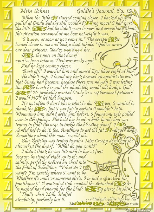 """""""Mein Schnee"""" 60: Goldie's Journal, Pg.12"""