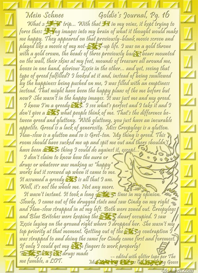 """""""Mein Schnee"""" 81: Goldie's Journal, Pg.16"""