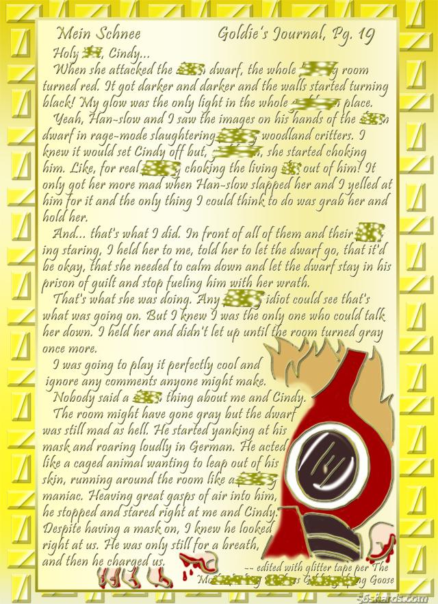 """""""Mein Schnee"""" 93: Goldie's Journal, Pg.19"""