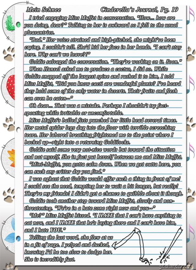 """""""Mein Schnee"""" 102: Cinderella's Journal, Pg.19"""