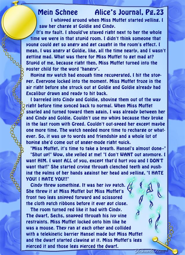 """""""Mein Schnee"""" 103: Alice's Journal, Pg.23"""
