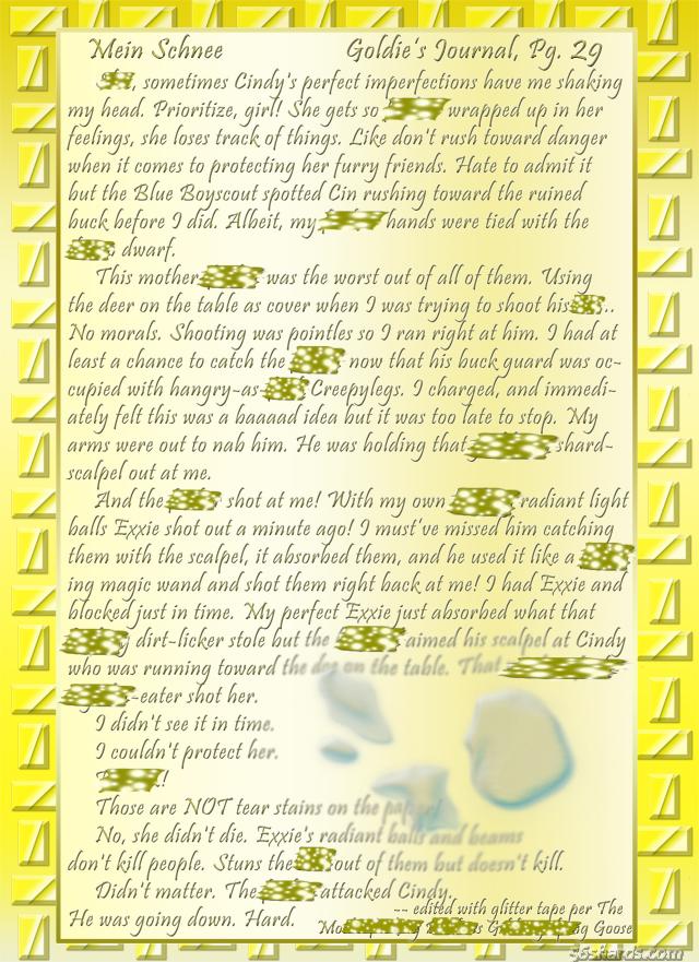 """""""Mein Schnee"""" 130: Goldie's Journal, Pg.29"""