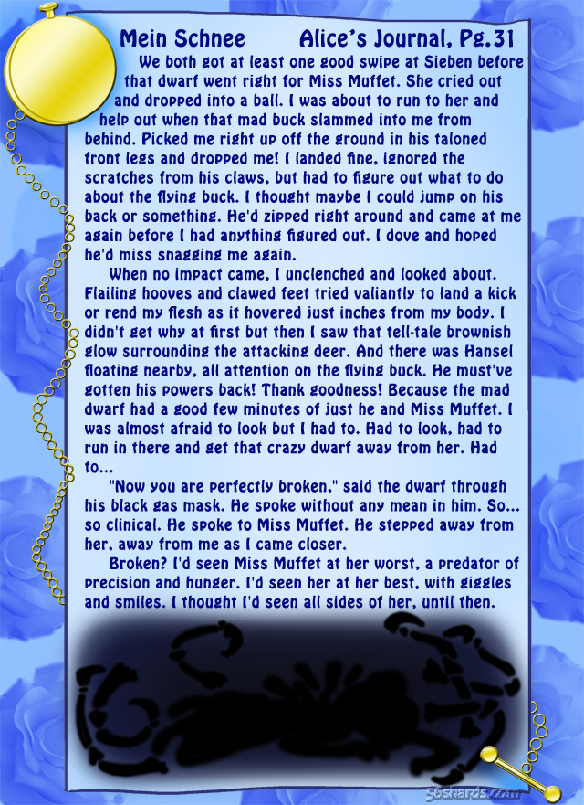 """""""Mein Schnee"""" 141: Alice's Journal, Pg.31"""