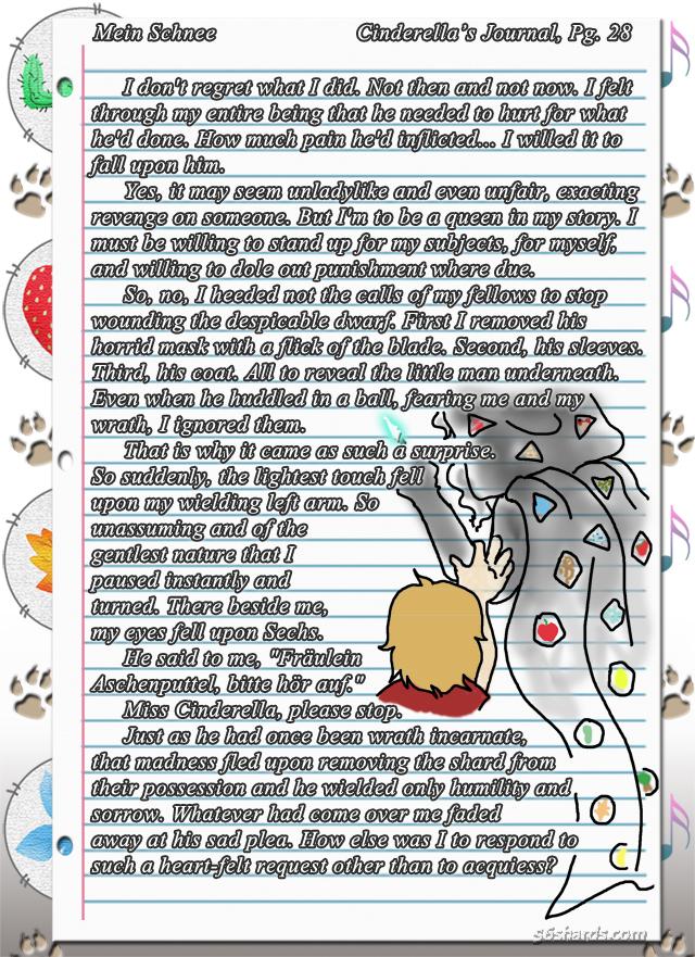 """""""Mein Schnee"""" 144: Cinderella's Journal, Pg.28"""