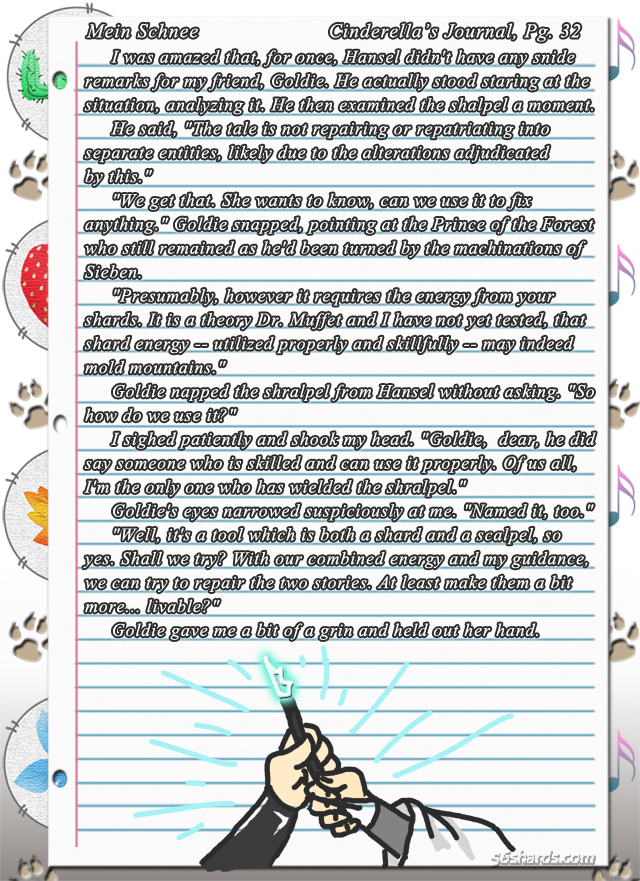 """""""Mein Schnee"""" 162: Cinderella's Journal, Pg.32"""
