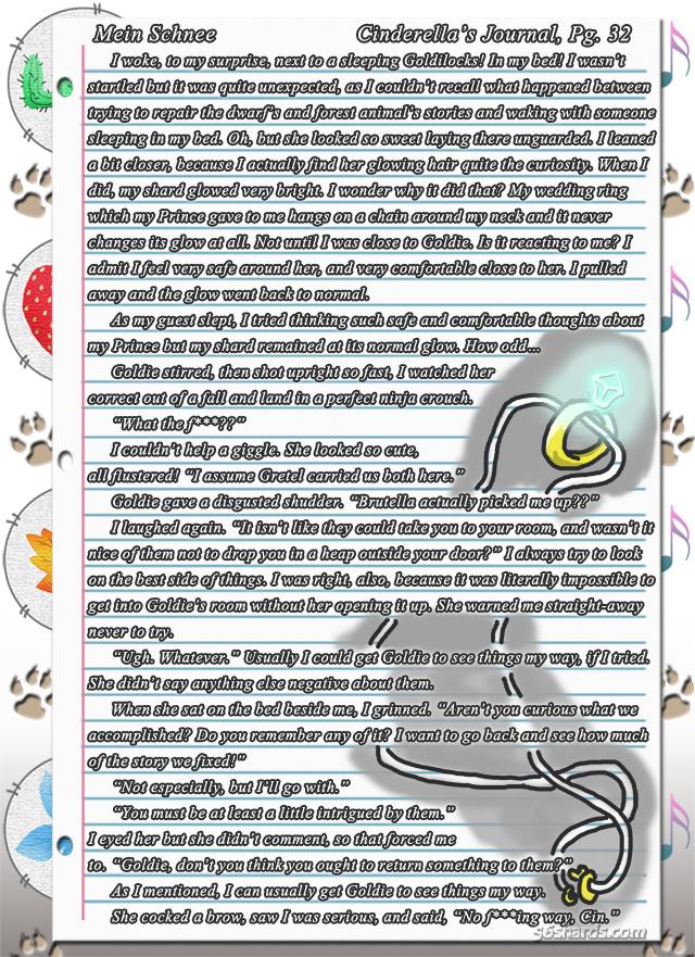 """""""Mein Schnee"""" 167: Cinderella's Journal, Pg.33"""