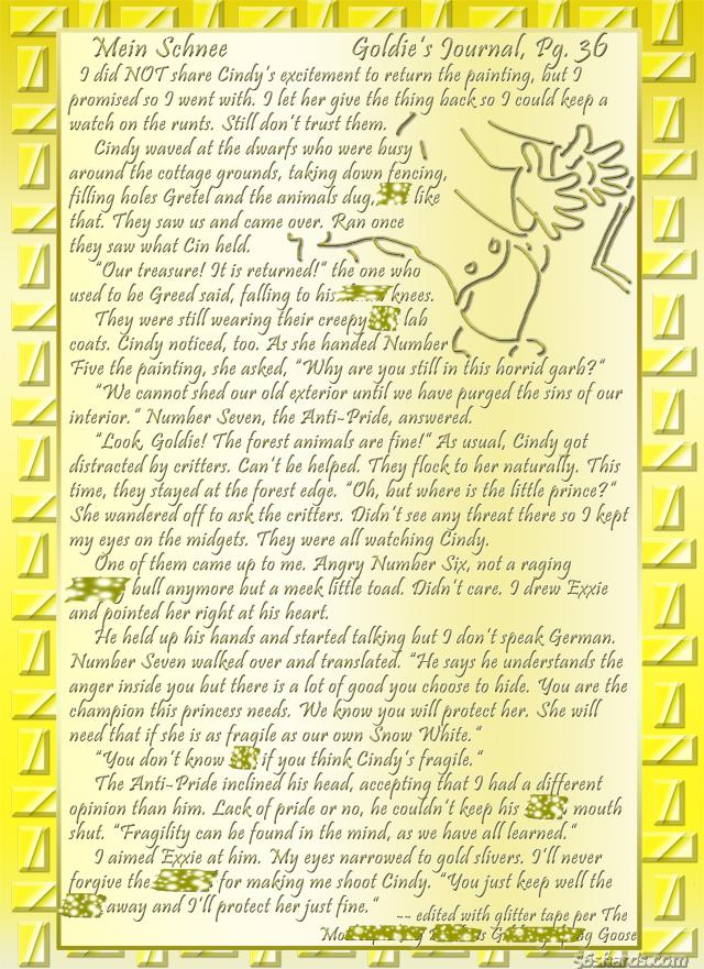 """""""Mein Schnee"""" 170: Goldie's Journal, Pg.36"""