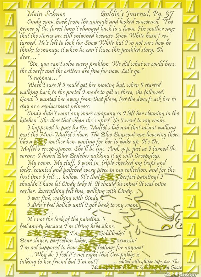 """""""Mein Schnee"""" 171: Goldie's Journal, Pg. 37"""