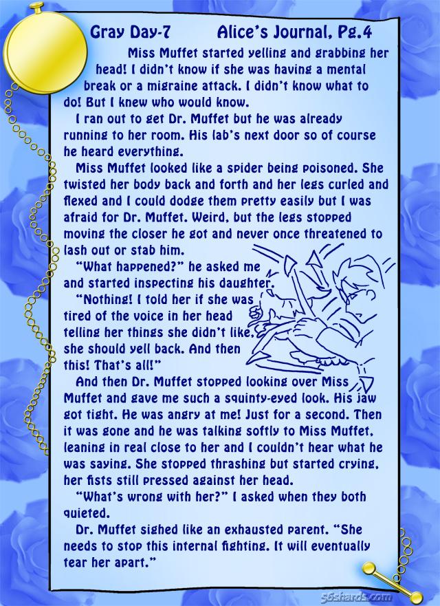 Gray Day 7: Alice's Journal, Pg.4